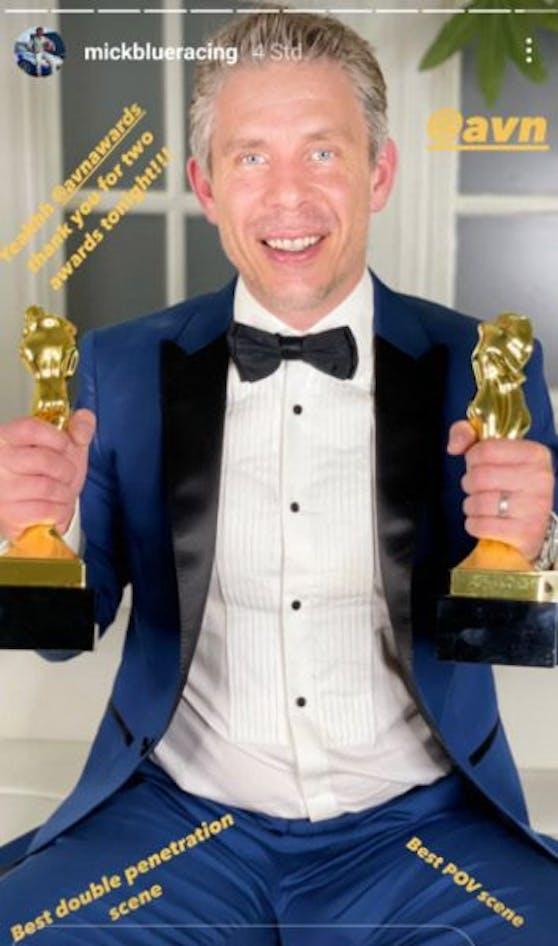Mick Blue freut sich über zwei AVN-Awards