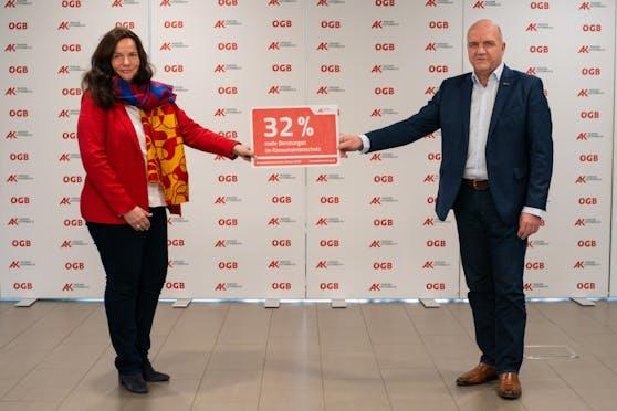 AK Niederösterreich-Präsident und ÖGB NÖ-Vorsitzender Markus Wieser und AK Niederösterreich-Direktorin Mag. Bettina Heise präsentierten die Bilanz der Konsumentenberatung im Corona-Jahr 2020.