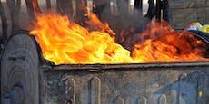 Feuer bei Müllinsel in Krems – Brandstiftung vermutet
