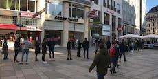 Massenansturm auf neues Burger-Lokal in Wiener City