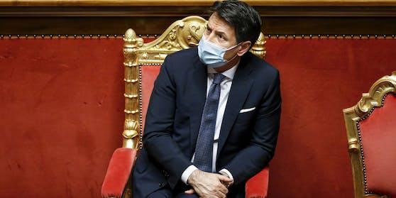 Seine Minderheitsregierung steht auf einer wackligen Basis: Italiens Ministerpräsident Giuseppe Conte.