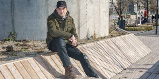 Michael Steinocher am Donaukanal.