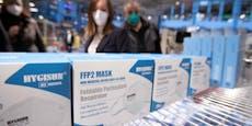 FFP2-Masken in Supermärkten streng rationiert