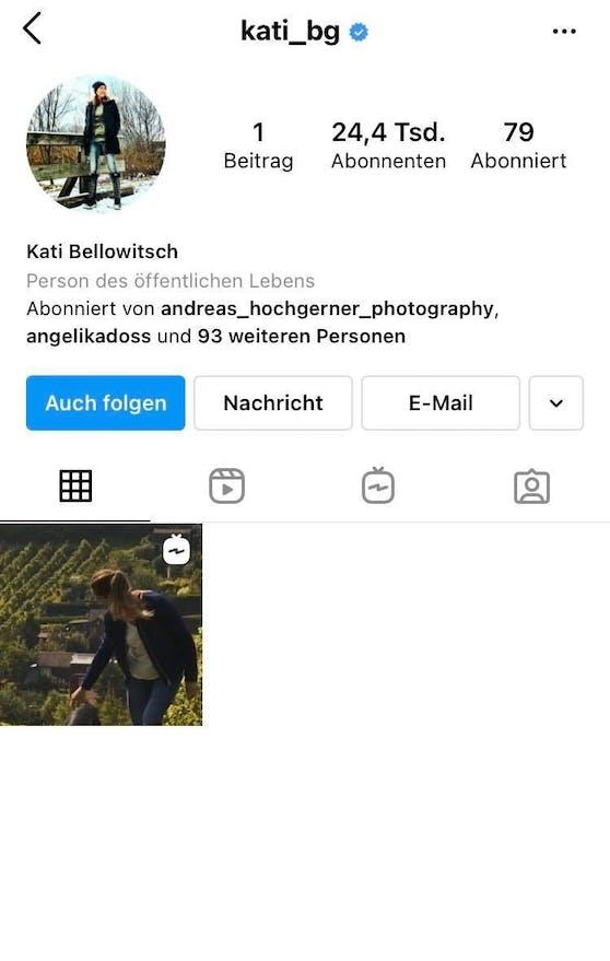 Kati Bellowitschs Insta-Account