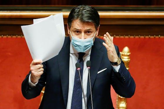 Giuseppe Conte reichte am Dienstag seinen Rücktritt als Italiens Ministerpräsident ein.
