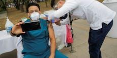 Jetzt wird sogar die Corona-Impfung zum Selfie-Trend