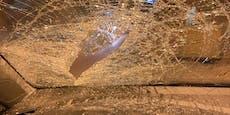 Eisplatte durchschlug Scheibe von 30-Jährigem
