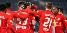 Salzburg hält sich mit 3:0-Erfolg an der Tabellenspitze