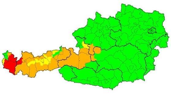 Aktuelle Wetter-Warnung in Österreich