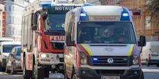 Frau floh vor Flammen auf Balkon und schrie um Hilfe