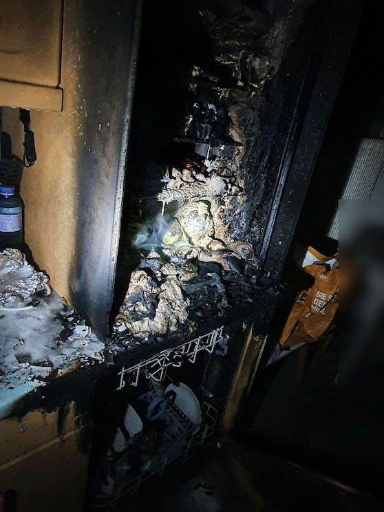 Schnell gelang es den Feuerehrleuten den Brand zu löschen.