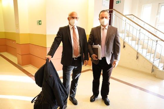 Niki Rast (l.) und Andreas Reichenbach vor der Verhandlung.