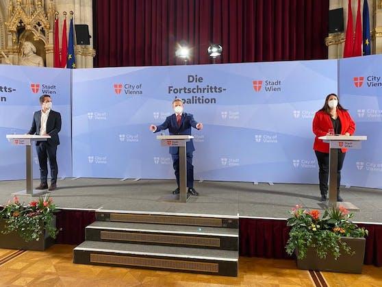 Wiens Bürgermeister Ludwig bei der PK zur Regierungsklausur von SPÖ/NEOS