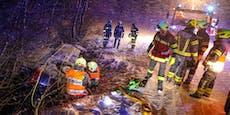 Schnee und Blitz-Eis sorgten für Unfall-Serie