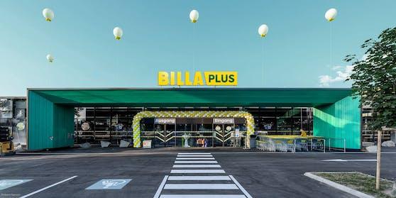 """Der Rewe-Konzern gibt die Marke """"Merkur"""" auf und macht """"Billa Plus"""" daraus."""