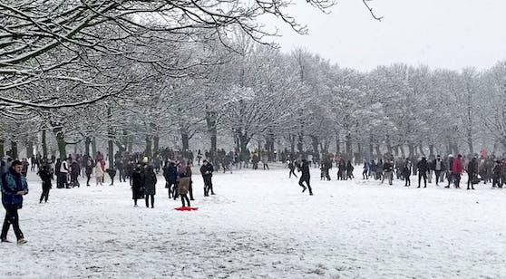 Schneeballschlacht Leeds
