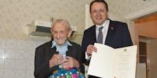 107 Jahre! Keiner ist in St. Pölten so alt wie Franz