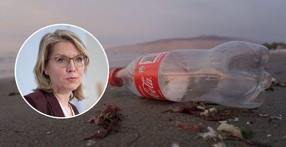 Umwelt- und Klimaministerin Leonore Gewessler ist für den Plastikpfand.