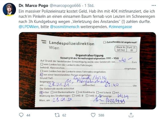 """Marco Pogo muss wegen """"Verletzung des Anstands"""" Strafe zahlen"""