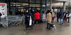 Ansturm auf Supermarkt wegen gratis Automaten-Kaffee