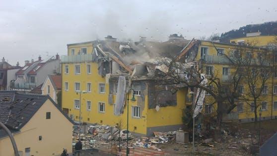 Bild der Zerstörung in Langenzersdorf