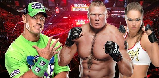 John Cena, Brock Lesnar, Ronda Rousey