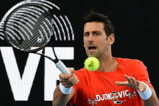 Novak Djokovic bestritt nur den zweiten Satz.