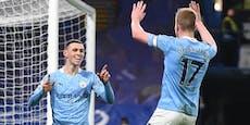 3 Tore in 16 Minuten! Manchester City zerlegt Chelsea