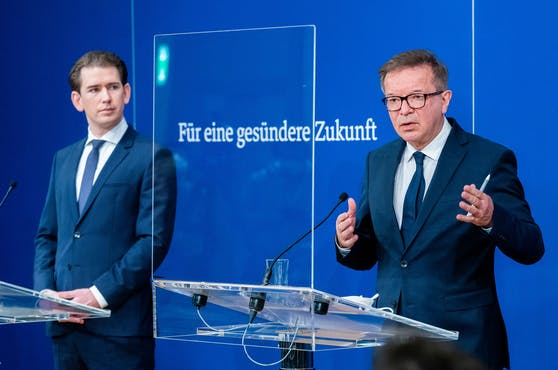 Sebastian Kurz (VP) und Rudolf Anschober (Grüne) beraten intensiv erste Öffnungsschritte.