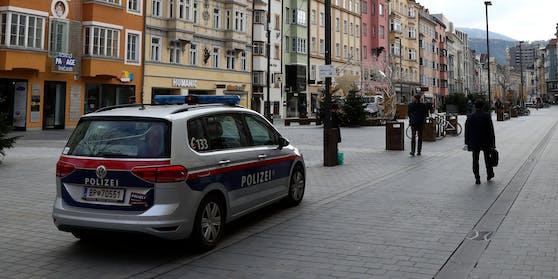 Polizeieinsatz in Innsbruck. Symbolbild.