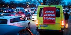 Corona-Leugner wollen Wien mit Hup-Konzert wach halten