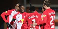 Bullen feiern klaren 3:0-Sieg, Sturm stolpert im Ländle