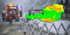 Sturm- und Schneewarnung für weite Teile Österreichs