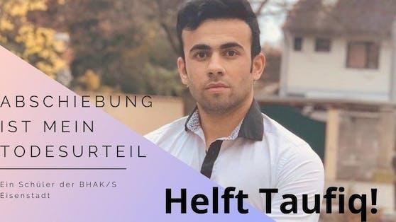 Mitschüler setzen sich für den Verbleib von Taufiq (17) ein.