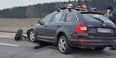 Zwei Kinder bei Crash auf der A1 bei Haag verletzt