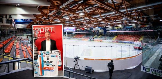 Laut Anzeige soll Christian Perthaler die Black Wings um mehr als 100.000 Euro geschädigt haben.