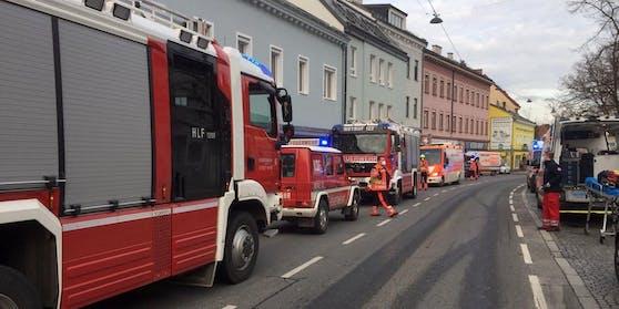 Feuerwehreinsatz in Wien-Liesing