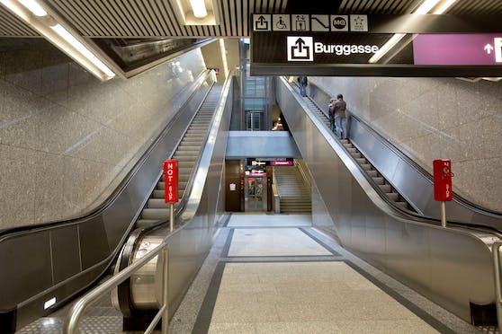 Der Aufzug in der Station Volkstheater von der U3 zur U2 wird erneuert.
