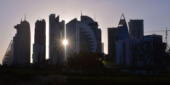 Skyline von Doha, Katar.