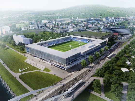 So soll es aussehen, das Stadion auf dem Möbellager.