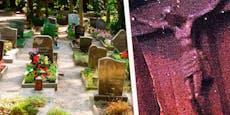 Jesus-Corpus einfach von Kreuz am Friedhof gestohlen