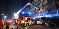Schwerverletzter musste mit Drehleiter gerettet werden