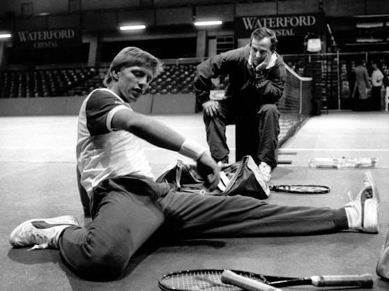 Boris Becker mit seinem Ex-Coach Bob Brett.