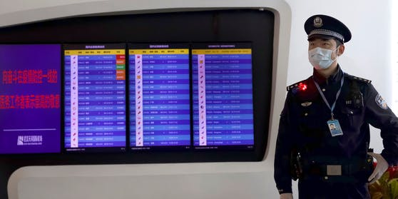 China Flughafen Polizist