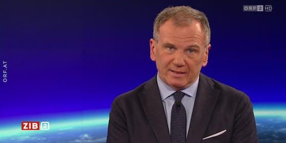 """News-Anchor und Wetter-Informant: Moderator Armin Wolf kommt in der """"ZIB 2"""" auf kuriose Wetternamen zu sprechen."""