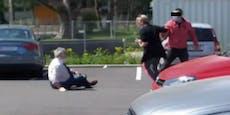 Wegen Corona-Abstand Senior ins Spital geprügelt