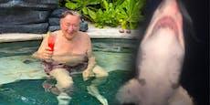 Richard Lugner im Desaster-Urlaub – nun sogar Hai-Alarm