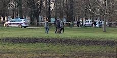 Absperrungen, Blaulicht – Polizei-Einsatz im Prater