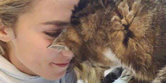 Mikaela Shiffrin und ihre Katze.