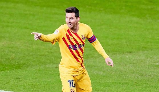 Lionel Messi beim Torjubel.